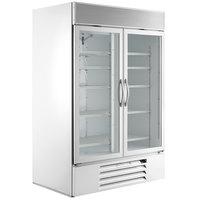 Beverage-Air MMF49HC-1-W-IQ MarketMax 52 inch White Glass Door Merchandiser Freezer with Electronic Lock