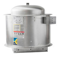 NAKS 10D-600-FF Direct Drive Centrifugal Upblast Exhaust Fan - 600 CFM, 1426 RPM, 115V, Single Phase