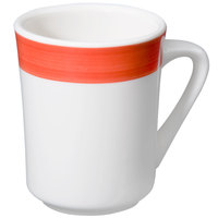 CAC R-17-R Rainbow Tierra Coffee Mug 8.5 oz. - Red - 36/Case