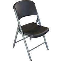 Lifetime 80407 Black Classic Folding Chair - 4/Pack