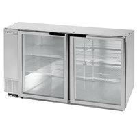 Beverage-Air BB58HC-1-FG-S 59 inch Stainless Steel Food Rated Glass Door Back Bar Refrigerator