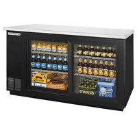 Beverage-Air BB58HC-1-F-GS-B 59 inch Black Food Rated Sliding Glass Door Back Bar Refrigerator