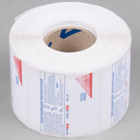 Globe E12 Safe Handling Label Roll - 12/Case
