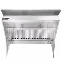 Halifax 421LPSHO748 Type 1 7' x 48 inch Low Ceiling Sloped Front Commercial Kitchen Hood with PSP Makeup Air (Hood Only)