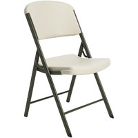 Lifetime 42803 Almond Classic Folding Chair   - 4/Pack