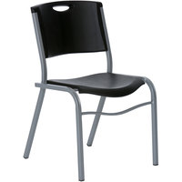 Lifetime 42830 Black Stacking Chair - 4/Pack