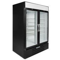 Beverage-Air MMF49HC-1-B-IQ MarketMax 52 inch Black Glass Door Merchandiser Freezer with Electronic Lock