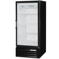 Beverage-Air MT10-1B-18 25 inch Marketeer Series Black Refrigerated Glass Door Merchandiser with Left Hinged Door and LED Lighting