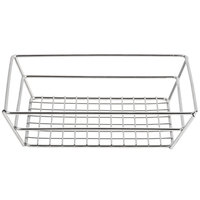 American Metalcraft SSRT962 Stainless Steel Small Grid Basket - 9 inch x 6 inch x 2 1/2 inch