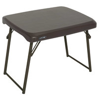 Lifetime 280488 24 inch x 18 inch Brown Compact Folding Table