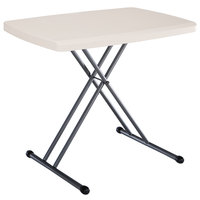 Lifetime 28240 30 inch x 20 inch Almond Personal Folding Table
