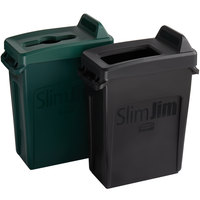 Rubbermaid Slim Jim 16 Gallon 2-Stream Recycle Station with Label Kit and Green Mixed Recycle and Black Open Top Lids