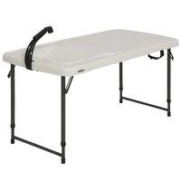 Lifetime 280560 49 1/8 inch x 24 1/8 inch White Plastic Folding Fillet Table