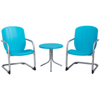 Lifetime 60193 Blue Retro Patio Table and Chairs Set