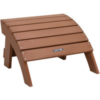 Lifetime 60245 Brown Adirondack Ottoman