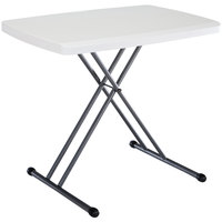 Lifetime 28241 30 inch x 20 inch White Personal Folding Table