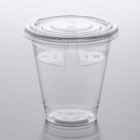 12 oz. Parfait Cup with Fabri-Kal Divided Insert and Flat Lid - 100/Pack