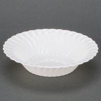 Fineline Flairware White 212-WH 12 oz. Plastic Bowl - 18/Pack