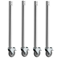 ServIt Locking Caster with Leg for 423EST Steam Tables   - 4/Pack