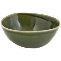 Front of the House DBO143GRP23 Kiln 21 oz. Leek Round Porcelain Bowl - 12/Case