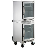 Beverage-Air UCR20HC-25 Double Stacked 20 inch Shallow Depth Low Profile Undercounter Refrigerator with Glass Door and LED Lighting