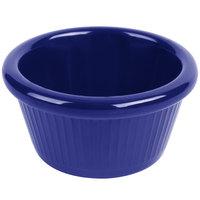 Carlisle S27960 2 oz. Cobalt Blue Fluted Plastic Ramekin - 48/Case