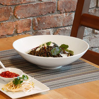 Front of the House DBO026WHP22 Spiral 80 oz. White Round Porcelain Wide Bowl - 6/Case