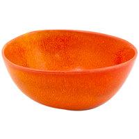 Front of the House DBO143ORP23 Kiln 21 oz. Blood Orange Round Porcelain Bowl - 12/Case