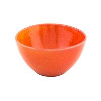 Front of the House DBO141ORP23 Kiln 7 oz. Blood Orange Round Porcelain Bowl - 12/Case