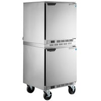 Beverage-Air UCR27AHC Double Stacked 27 inch Undercounter Refrigerator
