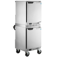 Beverage-Air UCF20HC and UCR20HC Double Stacked 20 inch Low Profile Undercounter Freezer and Refrigerator