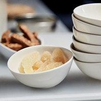 Front of the House DBO142BEP23 Kiln 10 oz. Vanilla Bean Round Porcelain Bowl - 12/Case