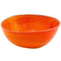Front of the House DBO142ORP23 Kiln 10 oz. Blood Orange Round Porcelain Bowl - 12/Case
