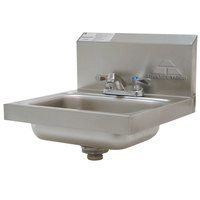 Advance Tabco 7-PS-20 Stainless Steel Hand Sink with Faucet and Backsplash