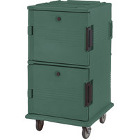 Cambro UPC1600HD192 Granite Green Ultra Camcart Insulated Food Pan Carrier with Heavy Duty Casters