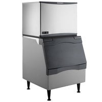 Scotsman C0330MW-1 Prodigy Plus Series 30 inch Water Cooled Medium Cube Ice Machine and Ice Storage Bin - 420 lb.