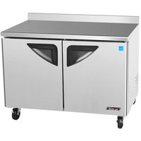 "Turbo Air TWF-48SD 48"" Super Deluxe Two Door Worktop Freezer - 12 cu. ft."