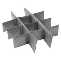 Vollrath VMCOMP12 Gray Replacement 12-Compartment Divider for Medium Catering Bags