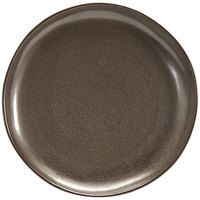 Front of the House DOS029ESP22 Kiln 11 inch Mocha Round Porcelain Plate - 6/Case