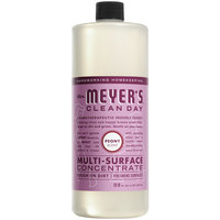 Mrs. Meyer's 316567 Clean Day 32 oz. Peony All Purpose Multi-Surface Cleaner Concentrate - 6/Case