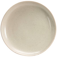 Front of the House DOS029MUP22 Kiln 11 inch Mushroom Round Porcelain Plate - 6/Case