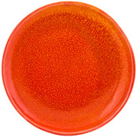 Front of the House DOS029ORP22 Kiln 11 inch Blood Orange Round Porcelain Plate - 6/Case