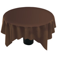 Hoffmaster 210436 82 inch x 82 inch Linen-Like Brown Table Cover - 12/Case