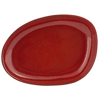 Front of the House DSP032RDP23 Kiln 8 inch x 6 inch Chili Porcelain Oval Plate - 12/Case