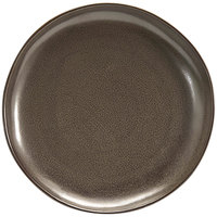 Front of the House DDP061ESP22 Kiln 10 inch Mocha Round Porcelain Plate - 6/Case