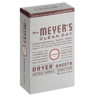 Mrs. Meyer's Clean Day 651347 80-Count Lavender Dryer Sheets   - 12/Case