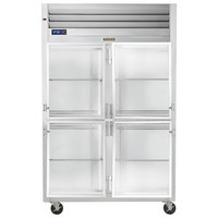 Traulsen G21001-032 52 inch G Series Glass Half Door Reach-In Refrigerator with Right / Left Hinged Doors