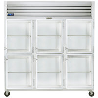 Traulsen G32002-032 76 1/4 inch G Series Glass Half Door Reach-In Refrigerator with Right Hinged Doors