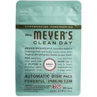 Mrs. Meyer's Clean Day 306686 20-Count Basil Dishwasher Pac - 6/Case