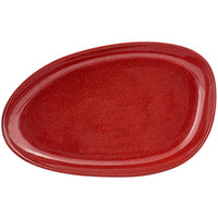 Front of the House DDP062RDP22 Kiln 11 inch x 7 inch Chili Oval Porcelain Plate - 6/Case